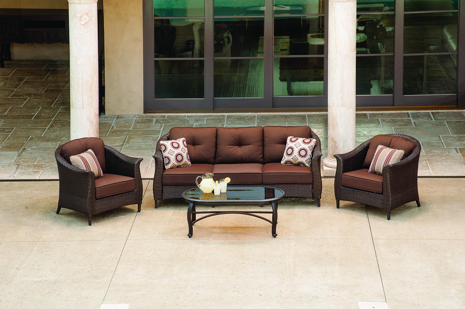 La Z Boy Outdoor S Eva Seating Collection Deep Seating Wicker Patio Set Patio Seating Sets
