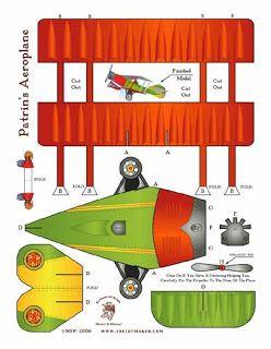 Bouwplaat: vliegtuig