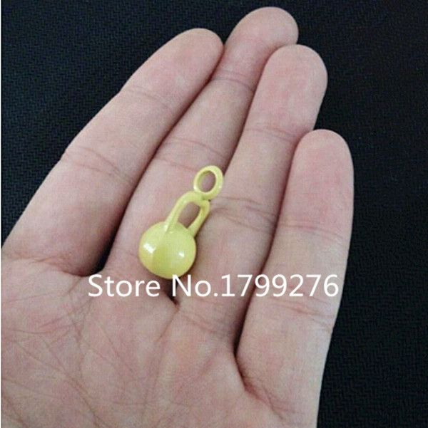 New Fashion Hot Sale Alloy Fitness Crossfit Paint Kettlebell Charm