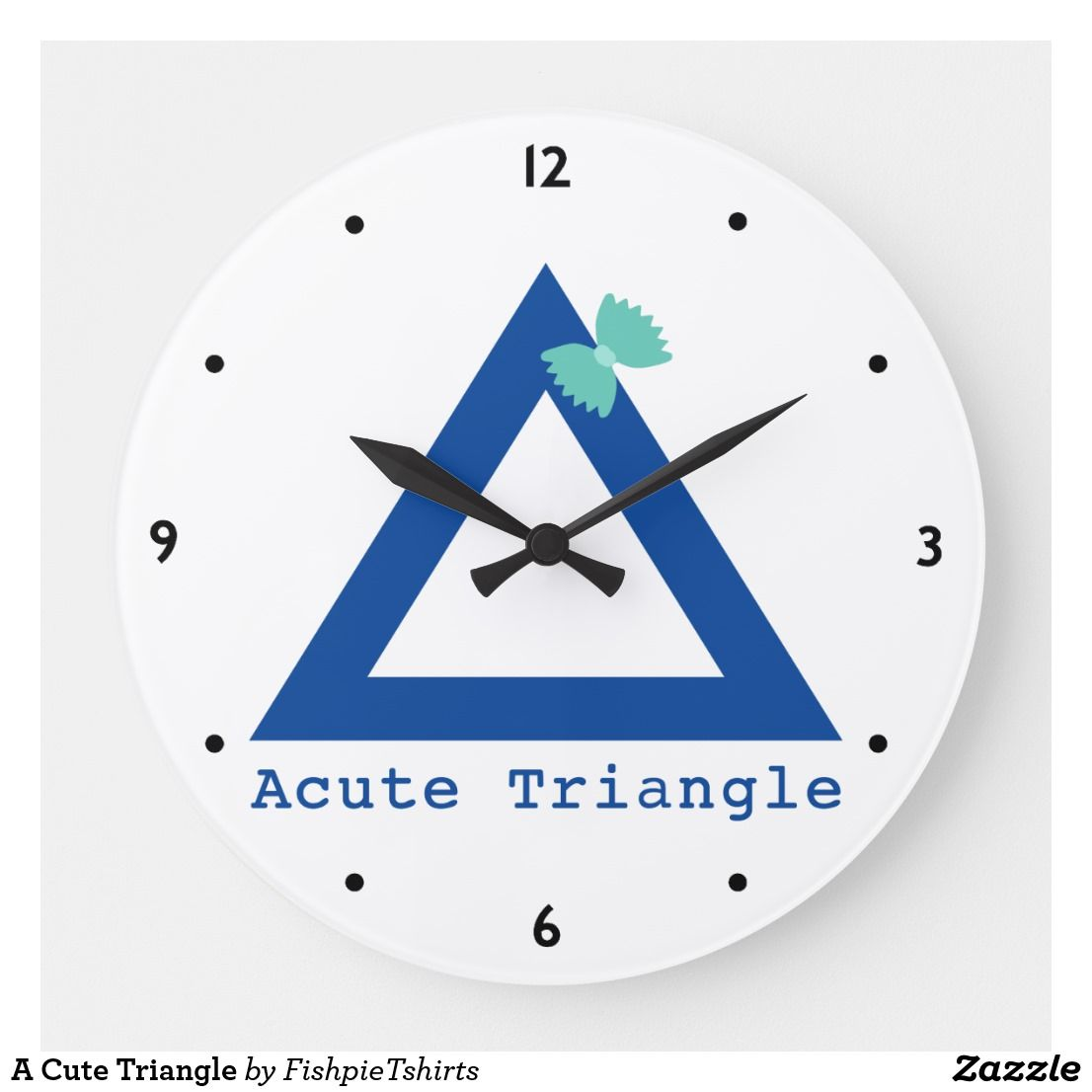 A Cute Triangle Large Clock Zazzle Com With Images Large