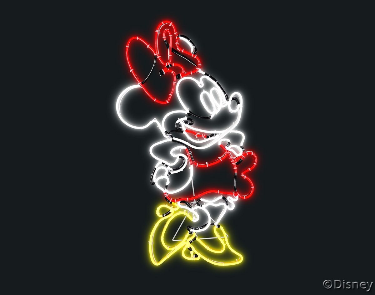 LED Disney Minnie Mouse Sign Minnie, Disney, Neon signs
