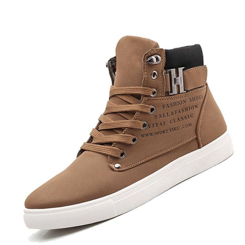 Better Annie Men Canvas Shoes New Fashion High Top Men's Casual Shoes Breathable Canvas Man Lace up Brand Shoes Black