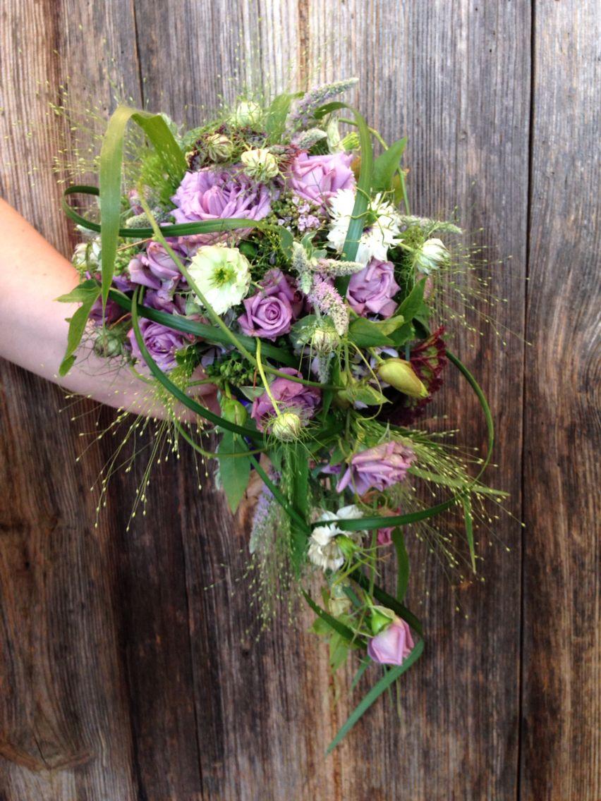 Brautstrauss Tropfen Lila Grun Wedding Hochzeit Flowers Made