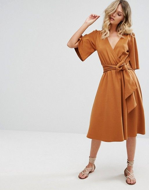 cc08008377a Moon River Wrap Midi Dress