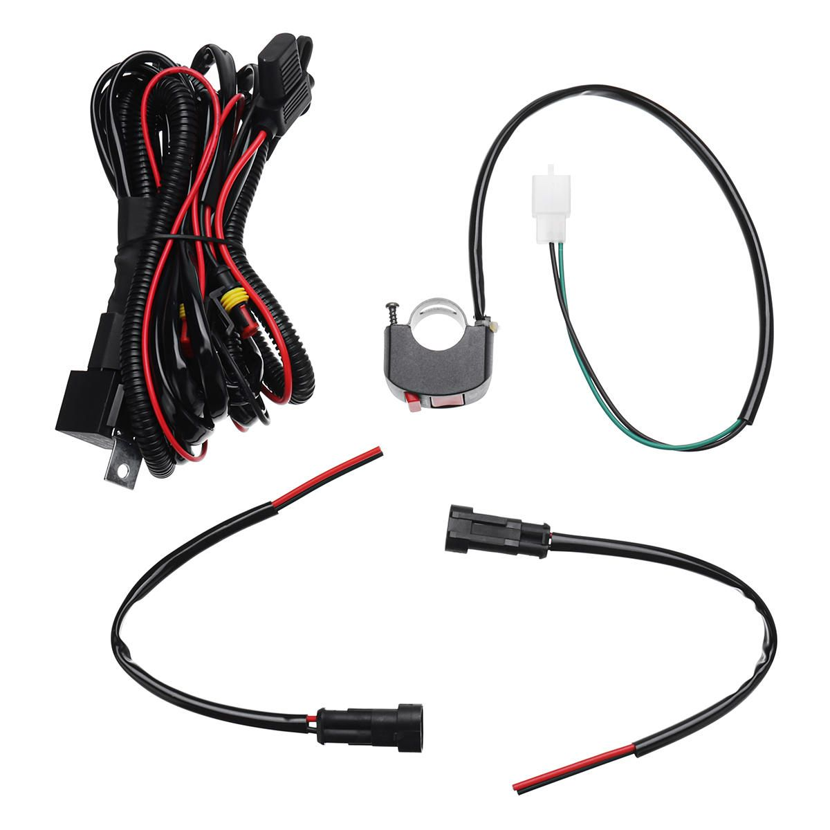 Us 15 44 10a Relsy Switch Fog Light Spot Wiring Loom Harness Kit For Universal Motorcycle Car Motorcycle From Automobiles Motorcycles On Banggood Com Harness Wire Motorcycle