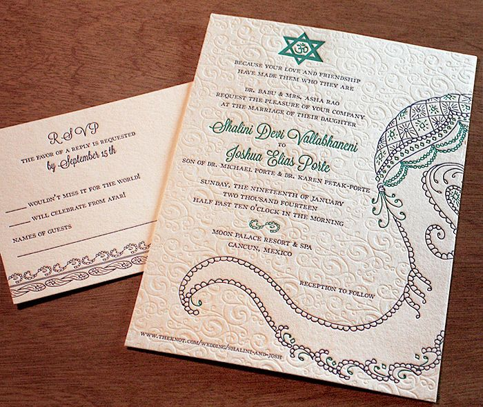 Multicultural religious symbol design featured on our baraat wedding - new sample letter invitation religious event