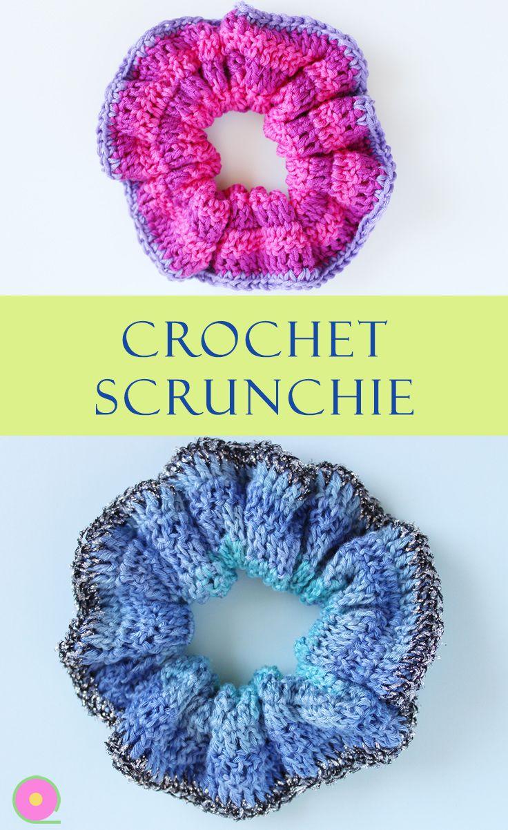How to crochet scrunchie hair tie #hairscrunchie