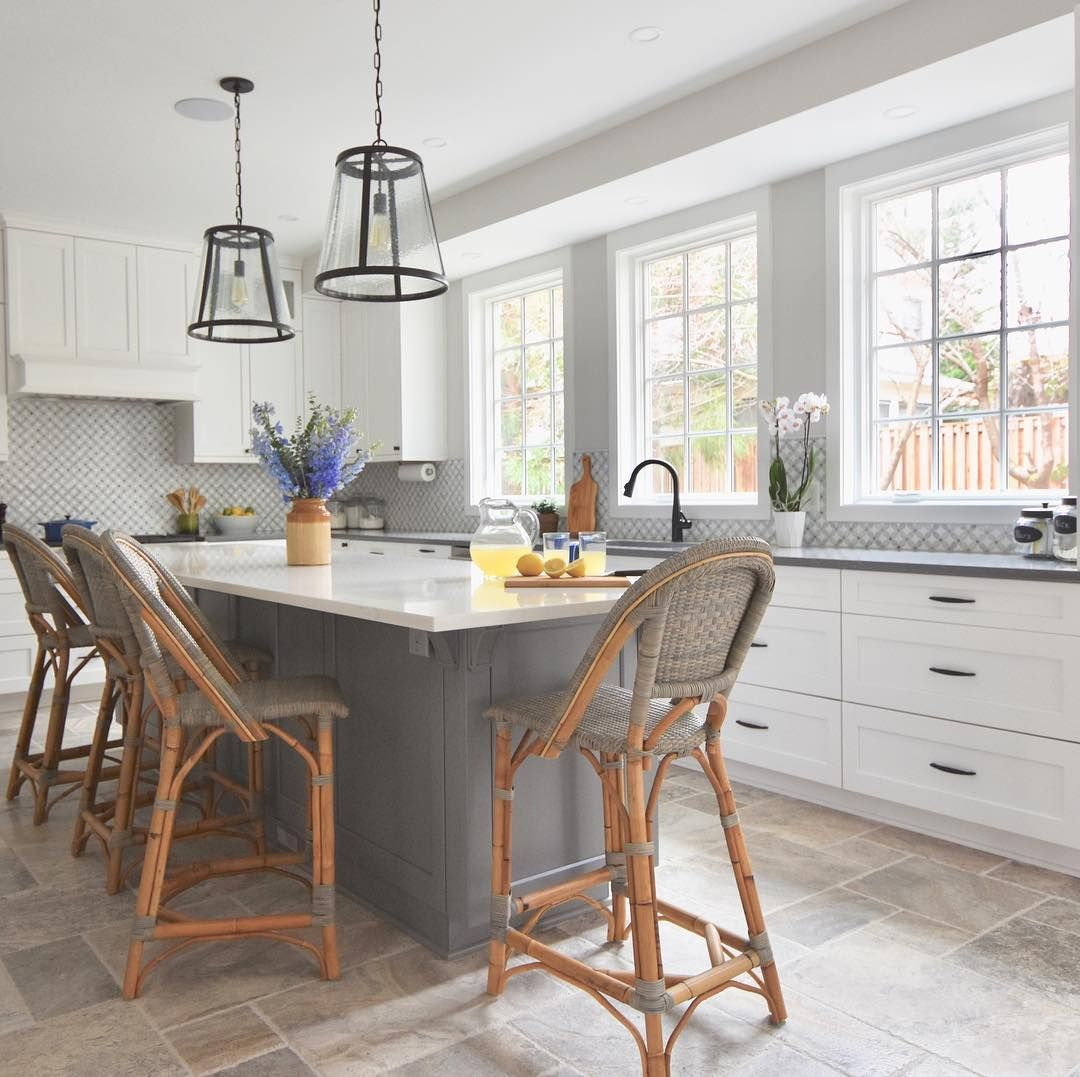 Pin By Jennifer Lampert On Leystonect In 2020 Modern Farmhouse Kitchens Parisian Bistro Chairs Counter Stools