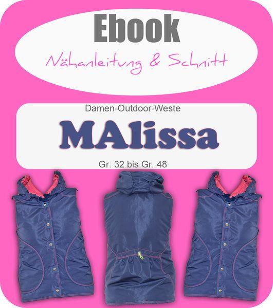 Ebook MAlissa - Damenweste Schnittmuster und Anleitung als PDF ...