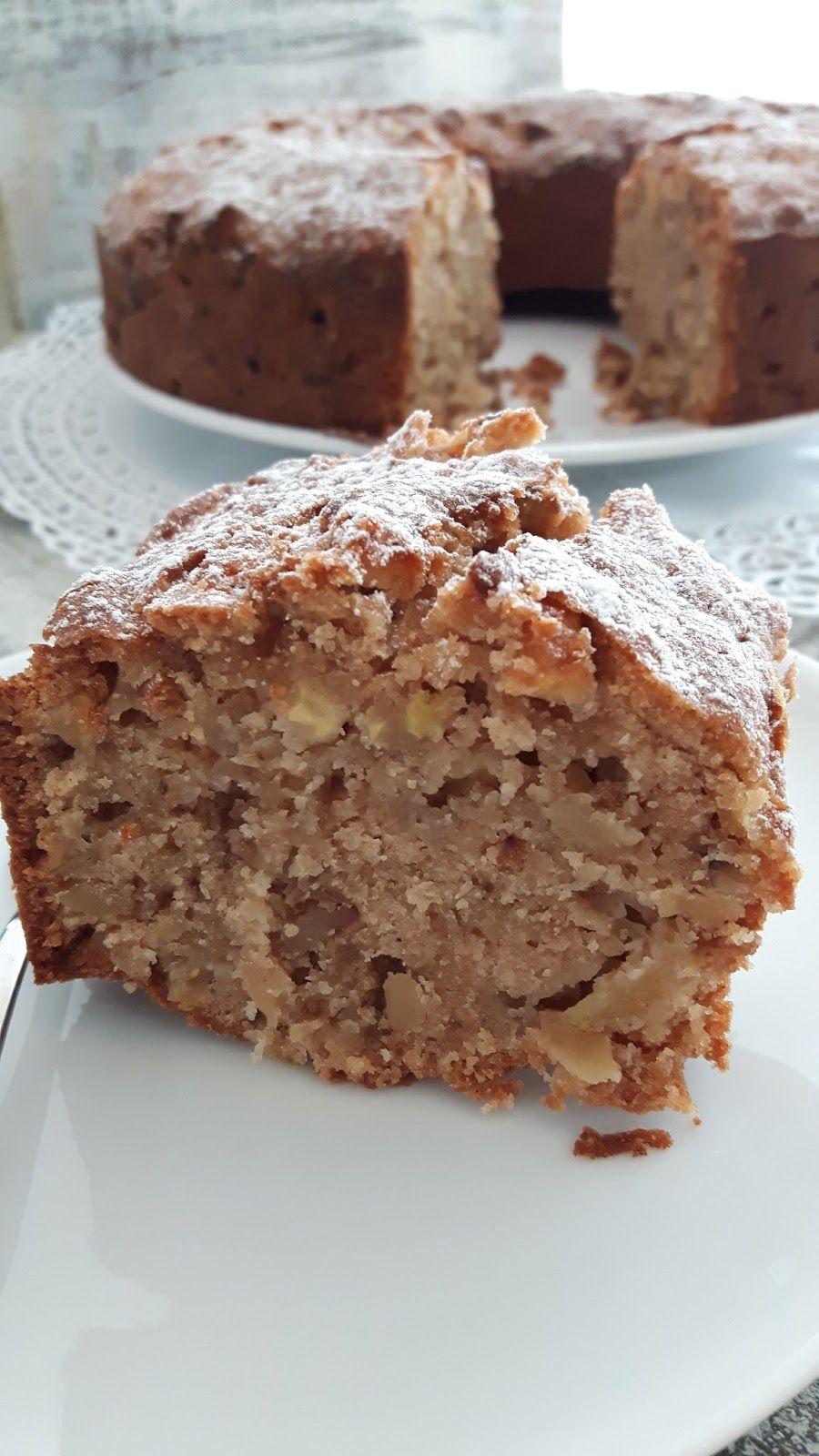 Ein Saftiger Traum Apfel Walnuss Kuchen Kuchen Trocken