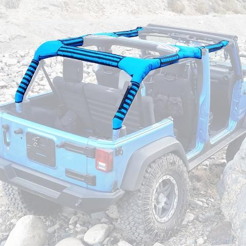 Jeep Wrangler Jku 4 Door Replacement Roll Bar Covers Full Set With Pals Molle On Sleeves Replace Door Jeep Rolling Bar