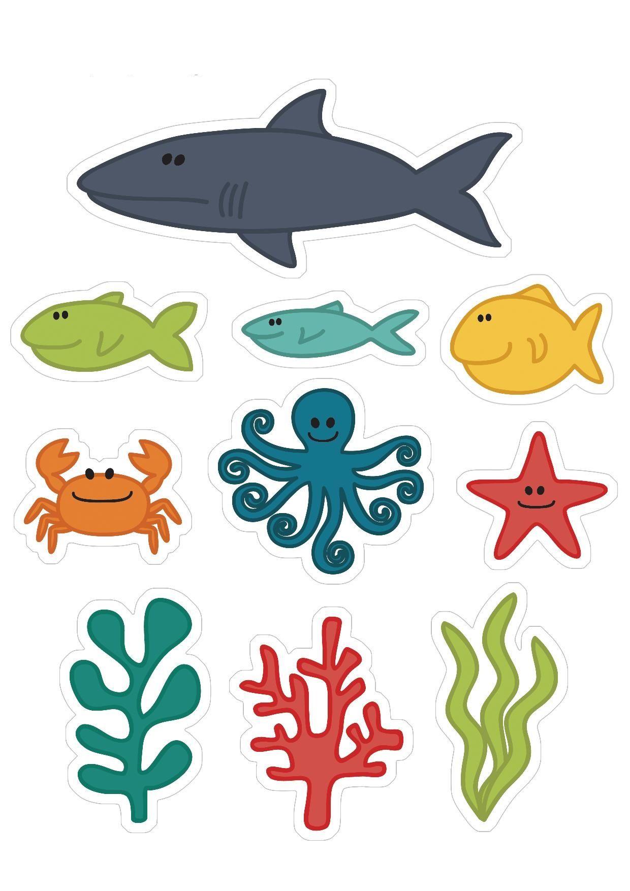 Okyanus Hayvanlari Calismalari Boyama Sayfalari Hayvan Okyanus