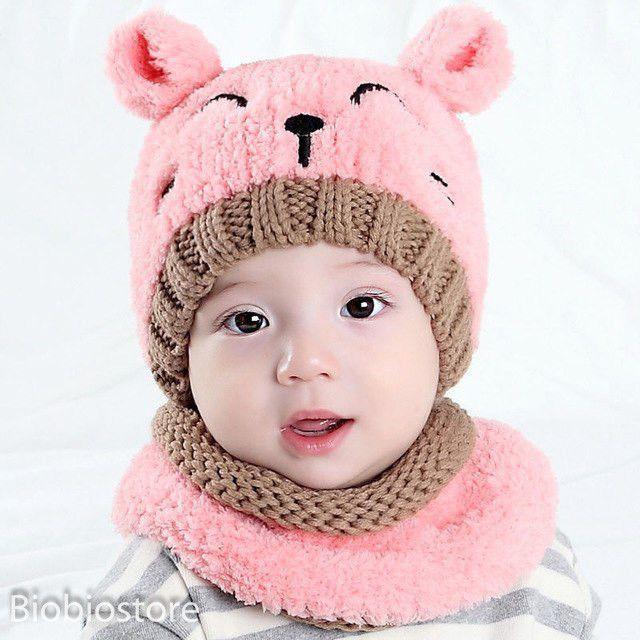 Newborn Baby Kids Warm Hat Cotton Pom Bobble Knit Crochet Beanie Cap New   fashion  clothing  shoes  accessories  babytoddlerclothing   babyaccessories (ebay ... 080f2016f32