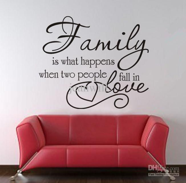 Family Wall Art Love Quote Decal Decor Sticker Lettering About Pinterest Nursery Letters Girl Wooden