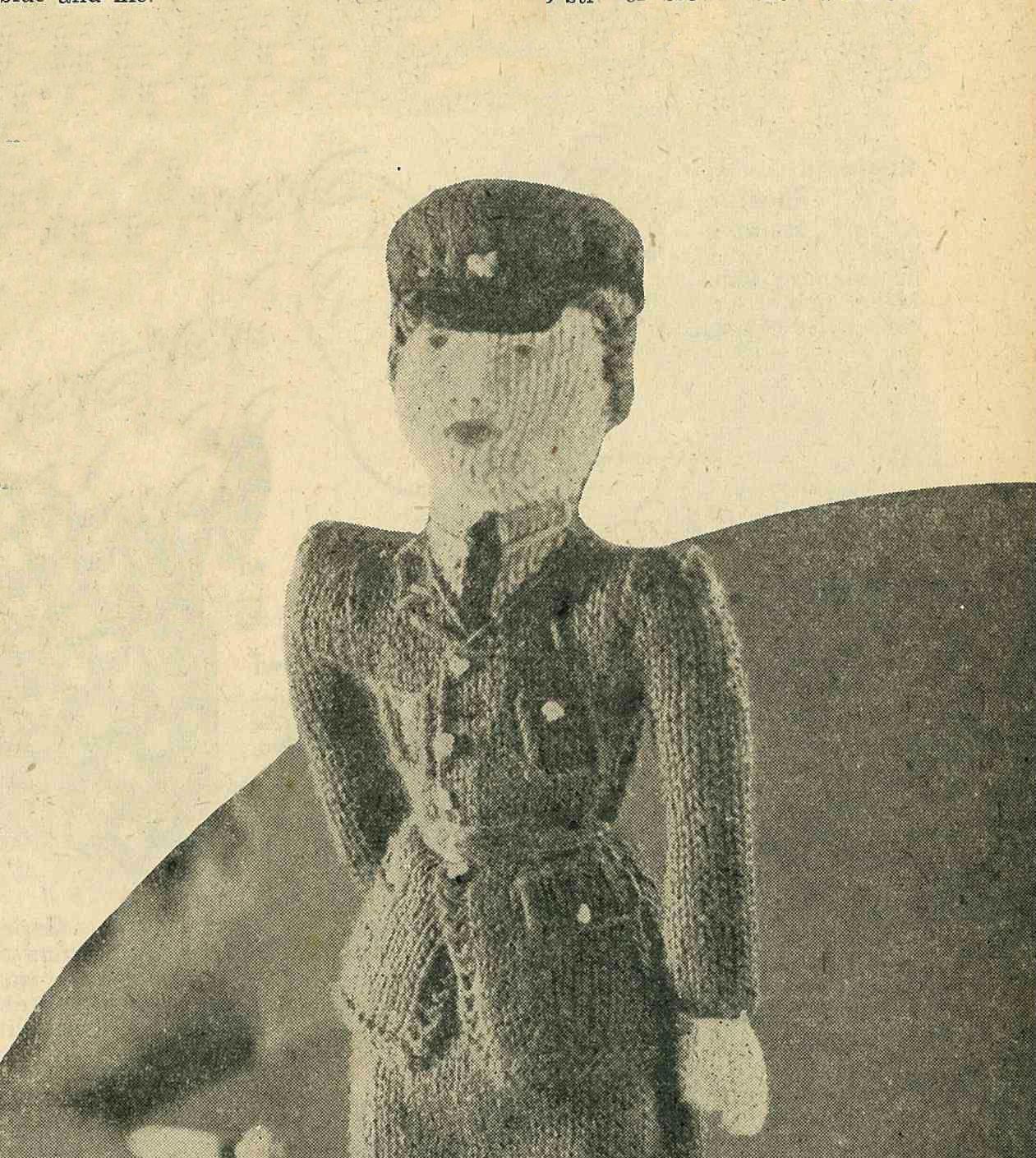 Wendy the WAAAF, 1940s toy pattern - vintage knitting pattern PDF ...