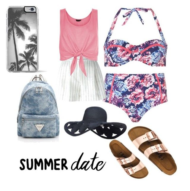 """Untitled #7"" by yasyaa-sarwono ❤ liked on Polyvore featuring Dorothy Perkins, Birkenstock, 3.1 Phillip Lim, New Look, Zero Gravity, beach and summerdate"