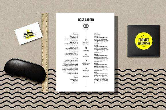 Carter - Resume template Illustrator by MéméDansLesOrties on