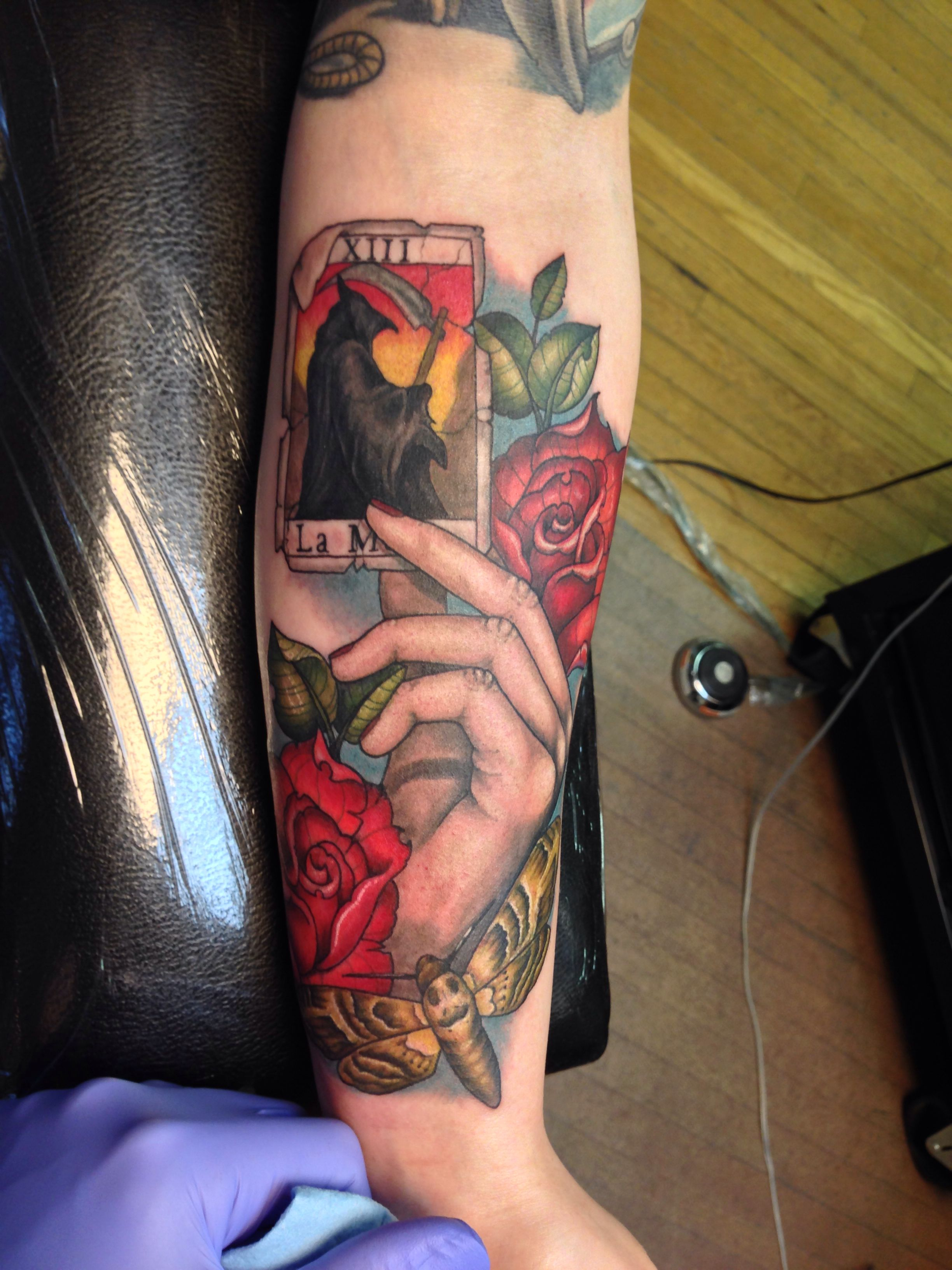 Death Thoth Tarot Card Tattoo - Year of Clean Water