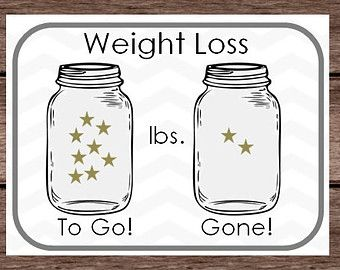 weight loss chart to print