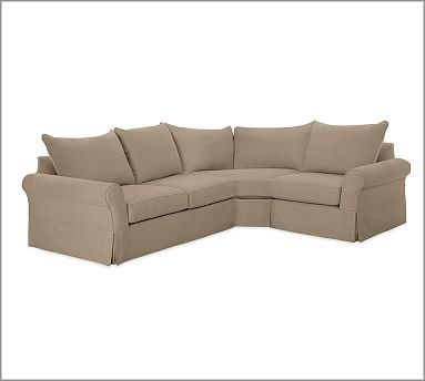 PB Comfort Roll Slipcovered 3-Piece Sectional with Wedge #potterybarn