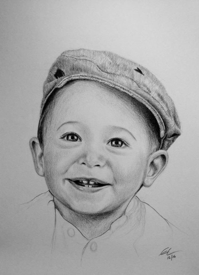 A3 Portrait Drawing Graphite Pencil Drawing Child Pencil Drawings Portrait Drawing Drawing People