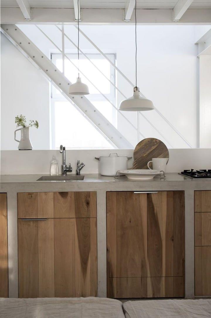 ideas de cocinas en concreto por Mariangel Coghlan02 cocinas de