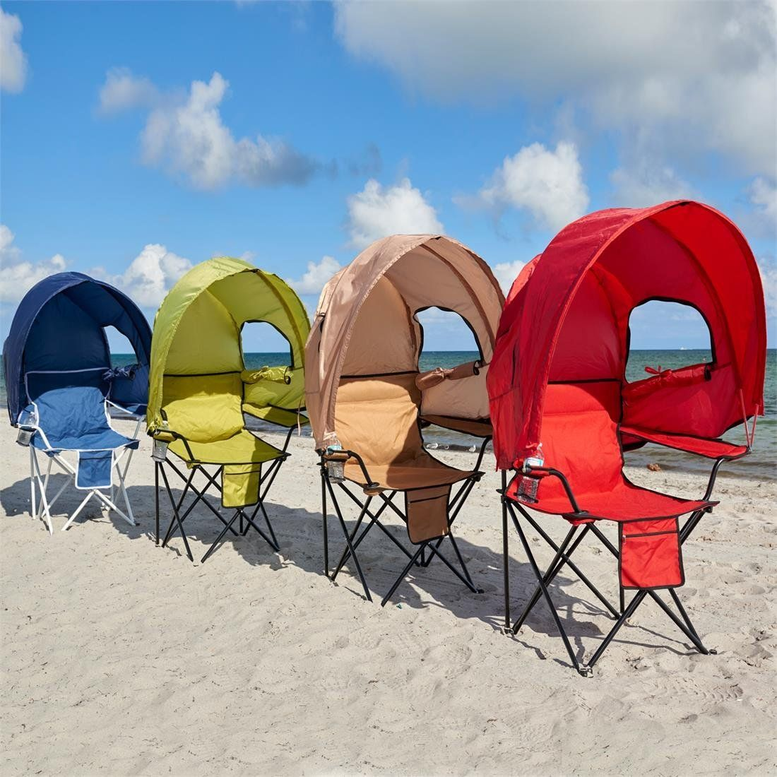 Brylanehome camp chair with canopy red 0