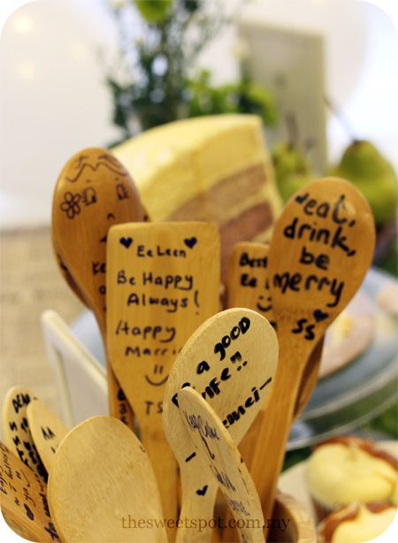 c4a8ecf263f6 perfect way to write messages to a bride at a kitchen-themed bridal shower!