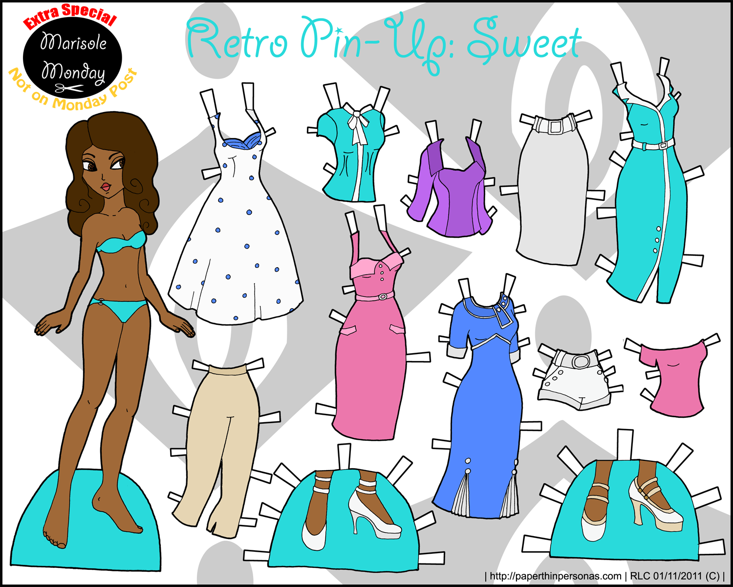 Paper Thin Personas   Paper dolls clothing, Paper dolls, Vintage ...