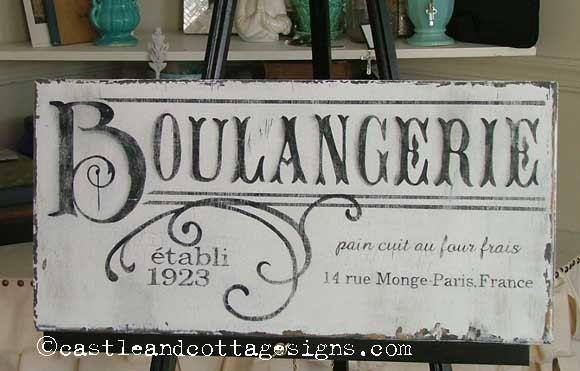 Boulangerie French Bakery Vintage Sign By Castleandcottage On Etsy