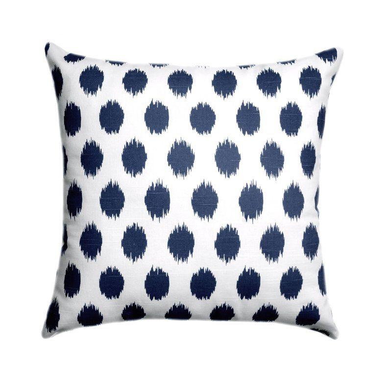 Navy Blue Throw Pillow Cover Jojo Navy Polka Dot Pillow Cover Navy Polka Dot Pillow Navy Hidden Zipper Accent Pillow Decorative Pillow Navy Blue Throw Pillows Blue Throw Pillow Cover Blue