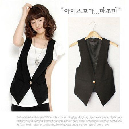 83c3d5337 Women's High Quality Solid Black Cool Vests Summer Plus Size Suit ...