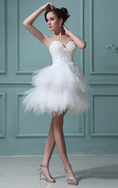 Hochzeitskleid Weiß Kurz Lovely Wunderschöne Weiß Brautkleider