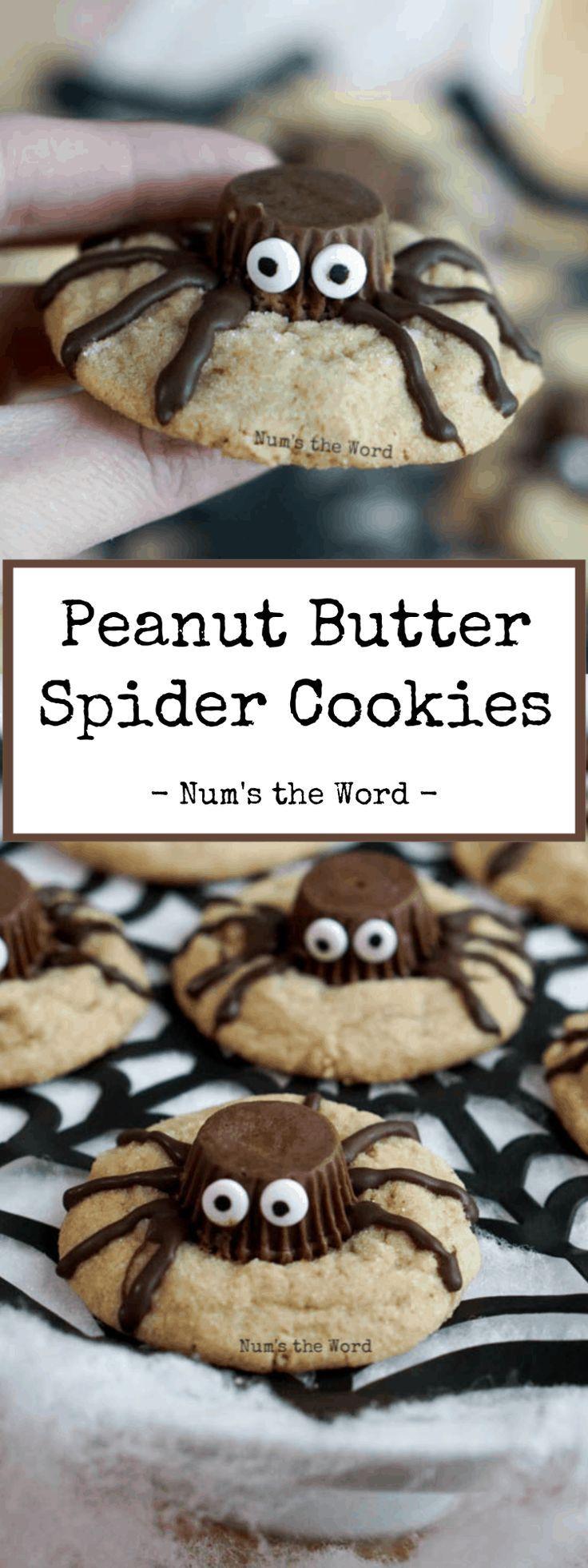 Spider Cookies for Halloween [peanut butter cookies] - Num's the Word