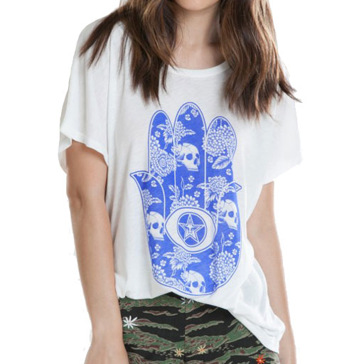 Obey Womens All Seeing Palm Oversized Tee (Dusty Light Grey) $27.95