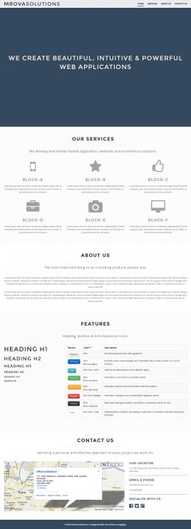 Belíssimo modelo de uma página responsive grátis