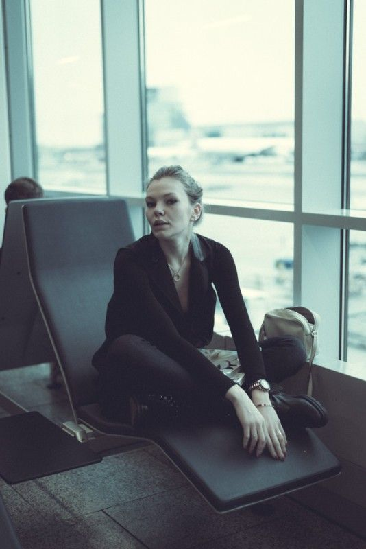 Airport life by Jay Mawson. Ksenija Selivanova on Heels&Buns