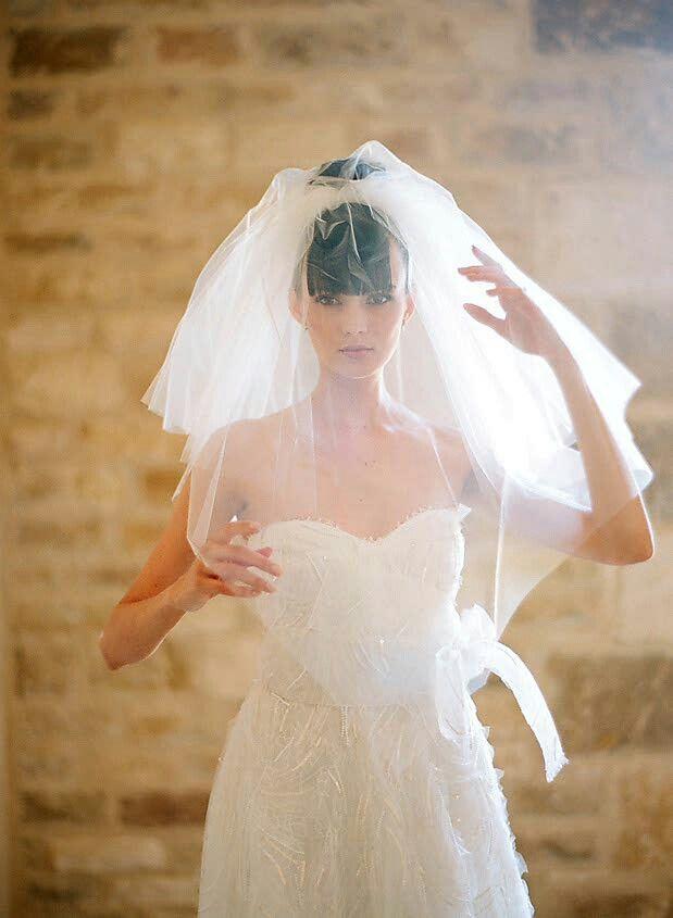 unique shoulder length multi tiered wedding veil by se veils etsycom