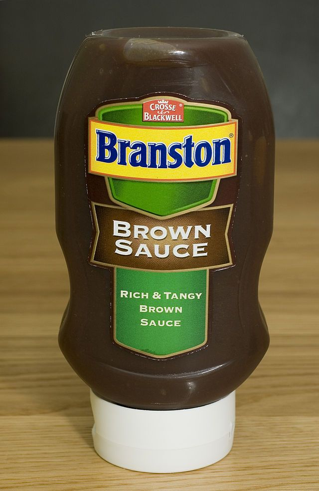 Branston Brown Sauce. Produced in the UK