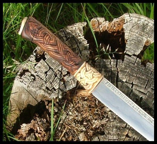 Rune Seax Handle Detail Blades And A Blacksmith Seax