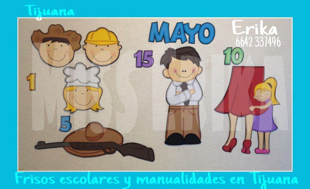 Efem rides de mayo madres bulletin boards classroom y for Puertas decoradas para el 10 de mayo