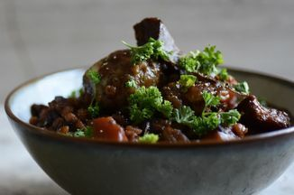Meatless Meaty Guinness & Barley Stew With Cheese Horseradish & Herb Dumplings Recipe on Food52 recipe on Food52