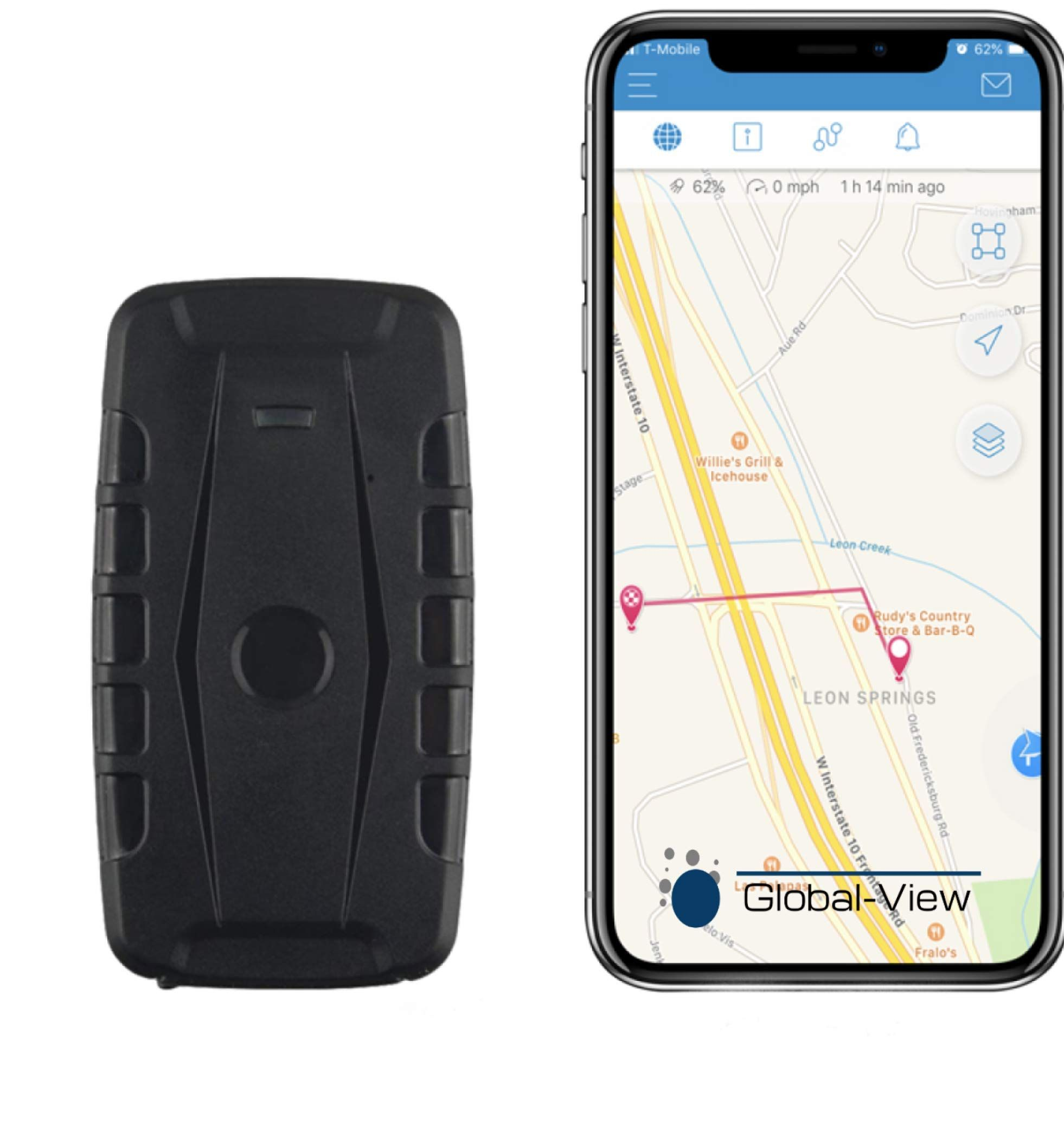 Global View Net Hidden Magnetic Gps Vehicle Tracking Device With