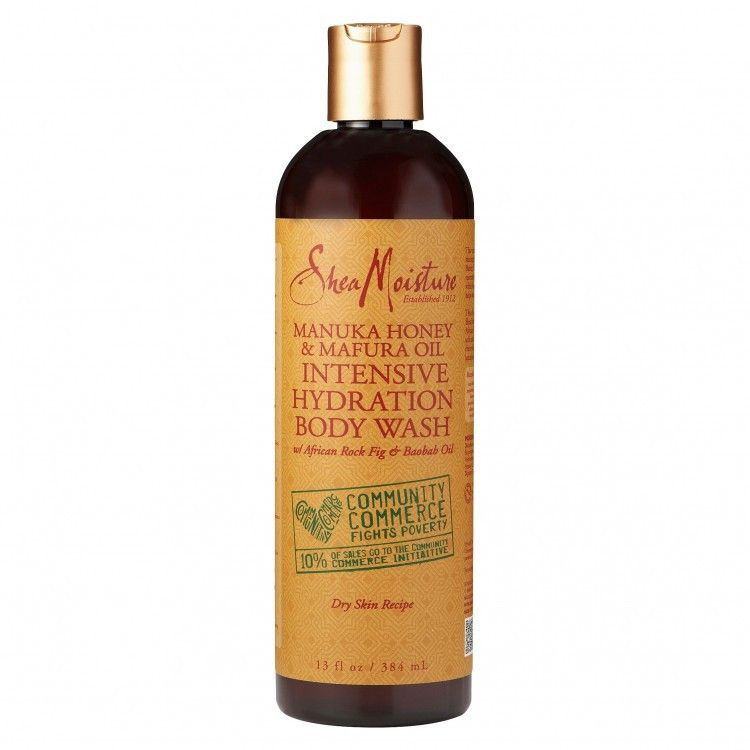 This vitamin-rich body wash gently cleanses, while moisturizing dry, rough skin. Certified organic Shea Butter, Honey, Mafura ad Baobab are blended into a restorative formulation that delivers intense