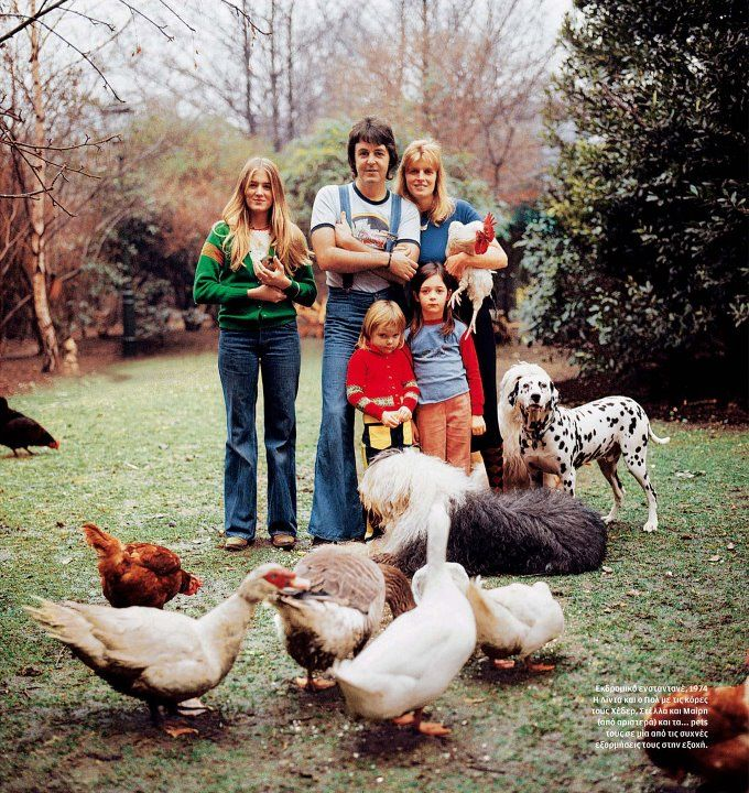 Paul McCartney With His Family