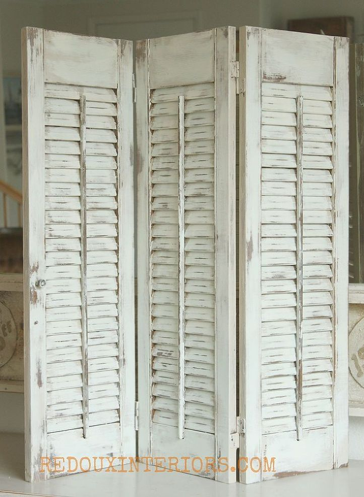How to paint old shutters and use for decor old shutters