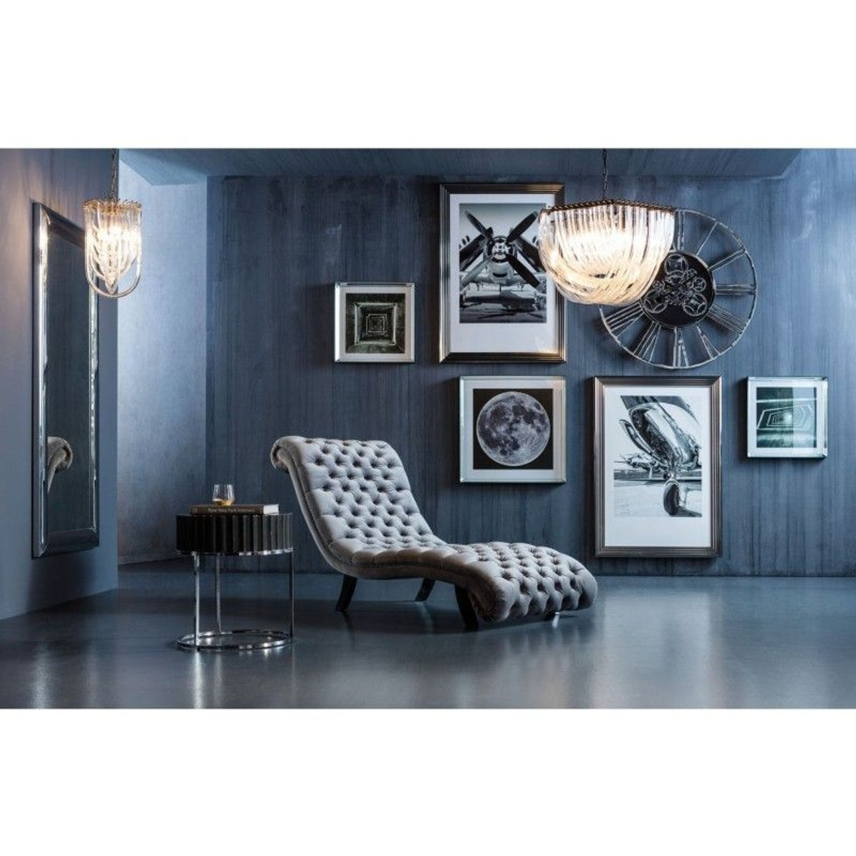 Velours Chaise Kare Design 2019Products Desire Longue Argenté In hxotdrQsCB