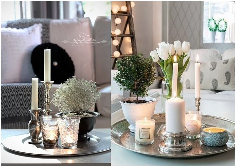 10 Awesome Coffee Table Centerpiece Ideas Coffee Table Centerpieces Decorating Coffee Tables Coffee Table Decor Tray