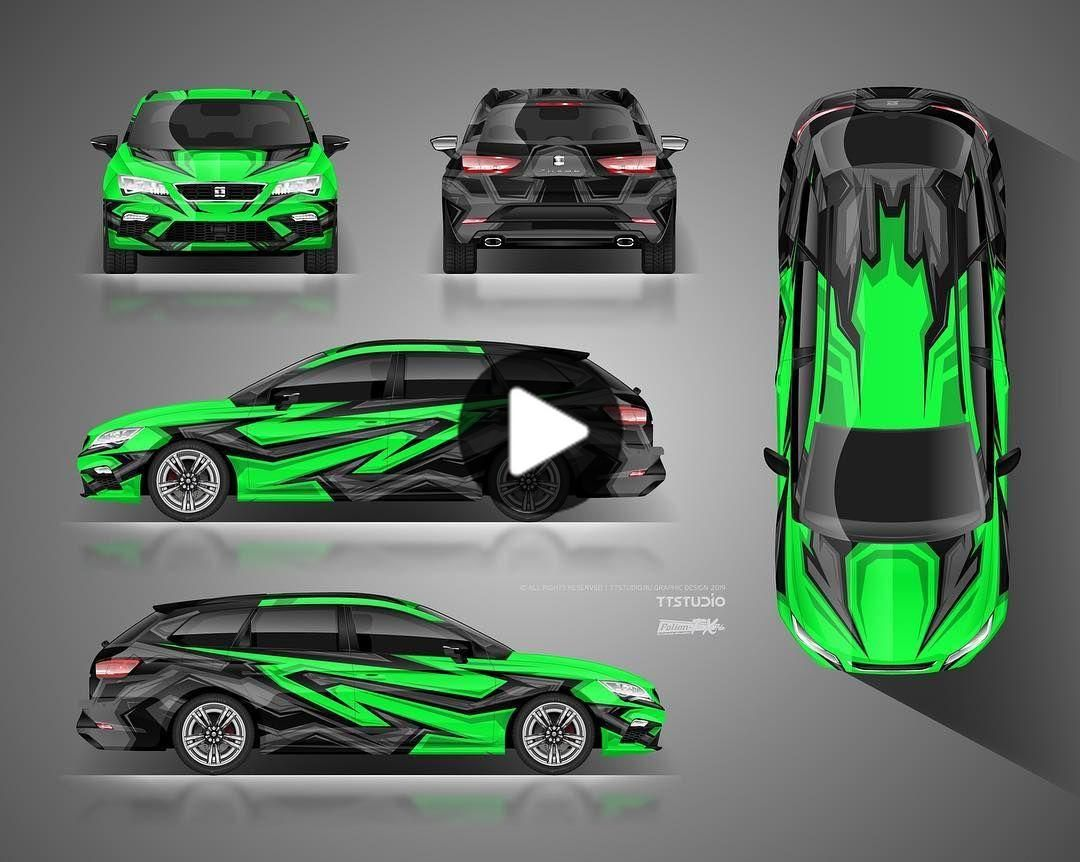 Ttstudio Officially On Instagram The Approved Full Wrap Design For Seat Leon Cupra Design By Car Wrap Design Car Wrap Car Graphics [ 862 x 1080 Pixel ]