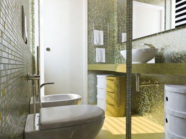 Piastrelle mosaico per piccolo bagno bathroom ideas small